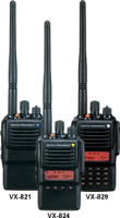 VX-820 Series - UHF or VHF - Waterproof