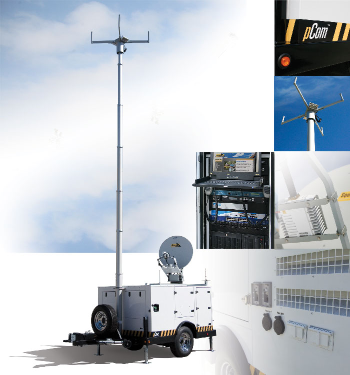 Squiretech pCom Satellite Trailer by Two-Way Radio - Orange County, CA